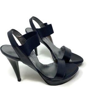 Via Della Spiga Women's High Heels Navy 36.5